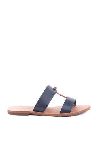 Anacapri navy Relax Flat Sandals 4DF4FSH7183F23GS_1