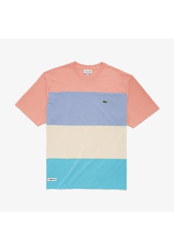 Lacoste Lacoste Men's Colourblock Striped Cotton Piqué Crew Neck T-shirt 10904AA7C3919AGS_1