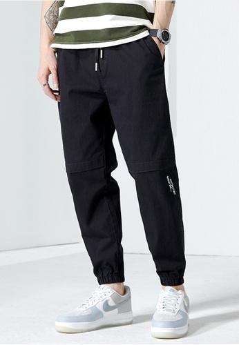 Trendyshop black Skinny Jogger Pants DC78FAA5DCC12EGS_1