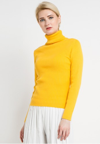 Noir Sur Blanc yellow Ladies Turtleneck Long Sleeve NO321AA0V4V6ID_1