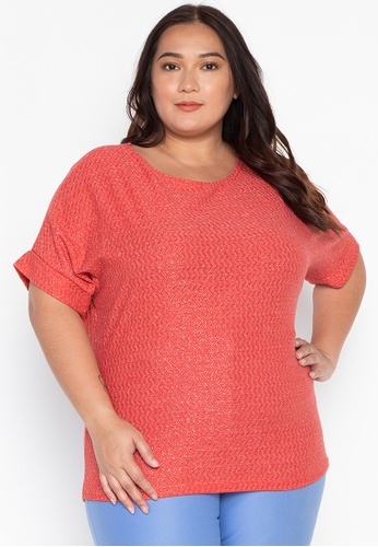 c7b283519 Shop Lulu Jambi Contineous Sleeves Plus Size Top Online on ZALORA  Philippines