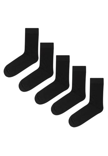 H&M black 5-Pack Socks C344AAA0672E59GS_1