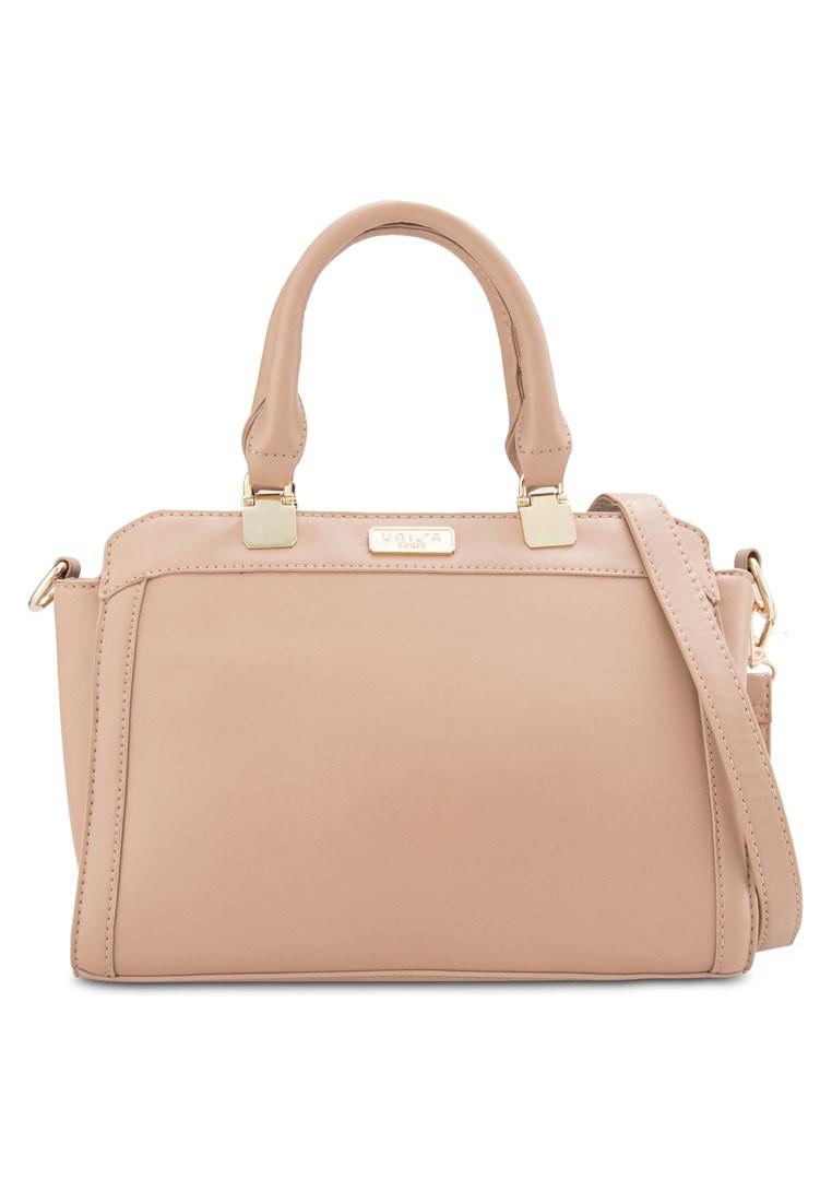 Faux Leather Convertible Shoulder Bag