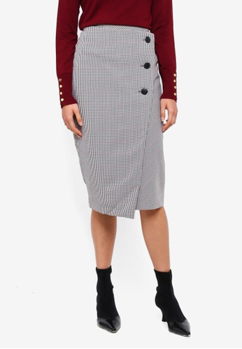af7cfb77909 Shop Dorothy Perkins Check Button Pencil Skirt Online on ZALORA Philippines
