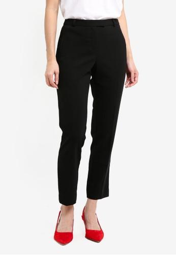 Miss Selfridge black Black Split Cigarette Trousers 3C1D3AA52E2CB2GS_1