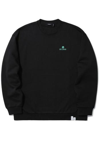 Fivecm black Logo print sweatshirt F06F0AA618B51BGS_1