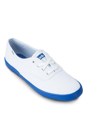 撞色繫帶運esprit 衣服動鞋, 女鞋, 休閒鞋