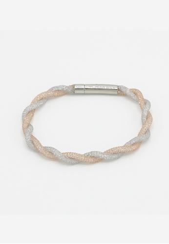 TIAS multi and silver Tias Fancy Silver Rose Mesh Bracelet 0151FAC66A44CFGS_1
