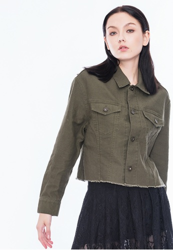 Alpha Style green Callie Cropped Jacket AL461AA0GN4FSG_1