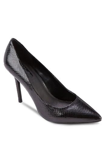 Gemitopshop 包ni2 蛇紋尖頭高跟鞋, 女鞋, 鞋