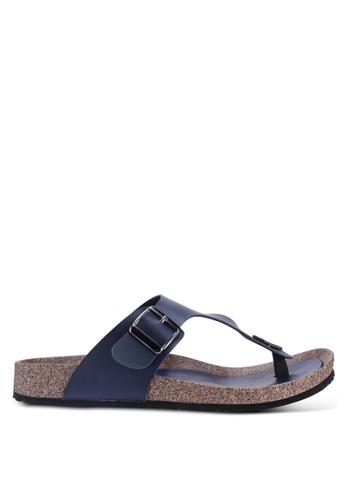 Bata navy Slip On Sandals BA372SHF0D4AE1GS_1