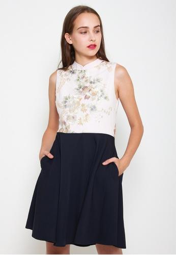 Leline Style blue Averie Oriental Cheongsam Dress D40AAAA3AB0FEBGS_1