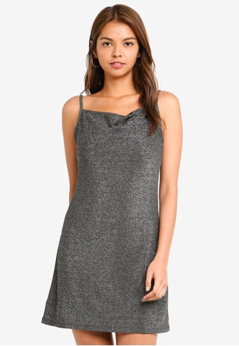 Cotton On silver Cowl Neck Mini Dress 10991AAE1357DAGS_1
