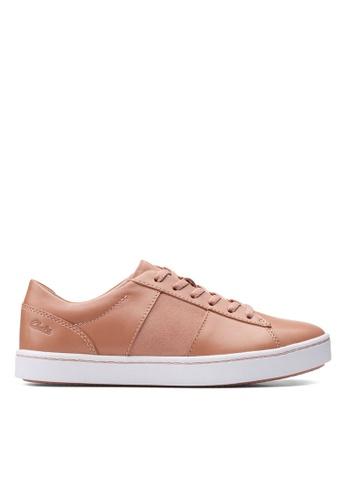 Clarks CLARKS Pawley Rilee Rose Leather/Suede Combi Womens Sport Shoes 33FCCSH6A6B36DGS_1