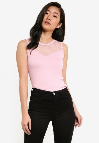 Dorothy Perkins pink Tie Back Shell Top DO816AA36DCLMY_1