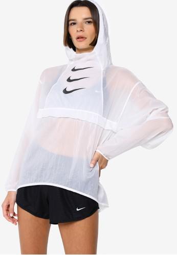 Nike white Women's Run Division Packable Running Jacket AFE36AAB6EA0A1GS_1