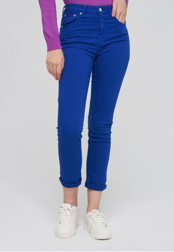 United Colors of Benetton blue Skinny Fit Trousers 8CEB3AA17375D0GS_1