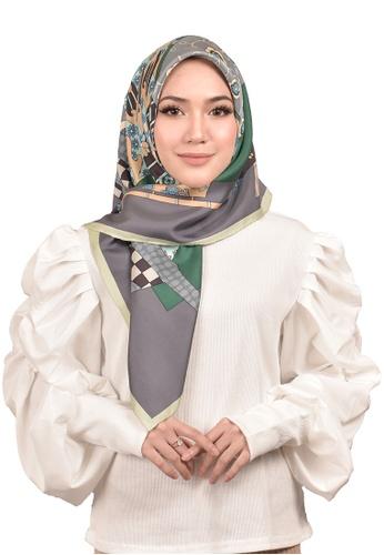 FATIMÉ multi Twill Silk Kimono (Green) D04F6AA818203CGS_1