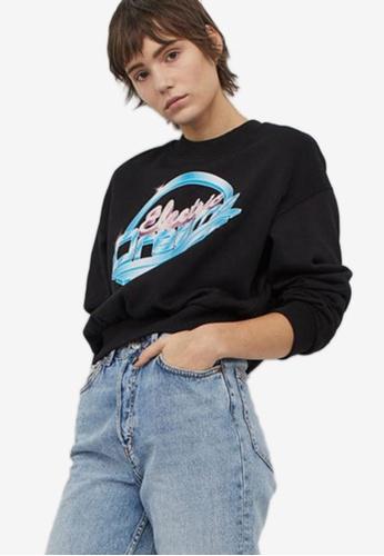 H&M black and multi Sweatshirt 0B710AA96301DBGS_1