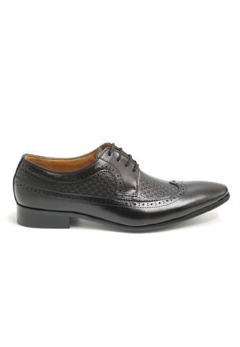 Kings Collection black Emmett Leather Shoes AFFBFSHD3FC5A2GS_1