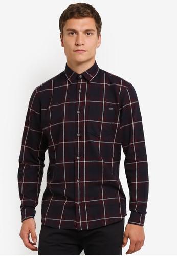 Jack & Jones navy Larson Shirt JA987AA0RM9ZMY_1