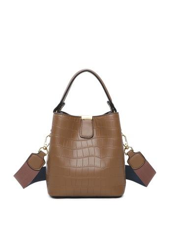 Milliot & Co. brown Debbie Top Handle Bag 19D0EAC00372A8GS_1