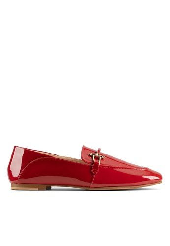 Clarks CLARKS Pure2 Loafer Red Patent Womens Casual Shoes C1805SH0D4D6CBGS_1