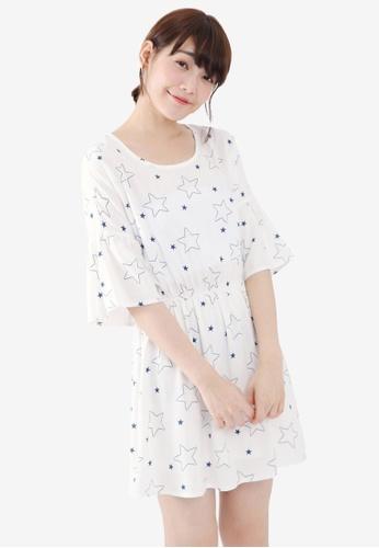 Tokichoi white Starry Skater Dress F22CFAA4165216GS_1