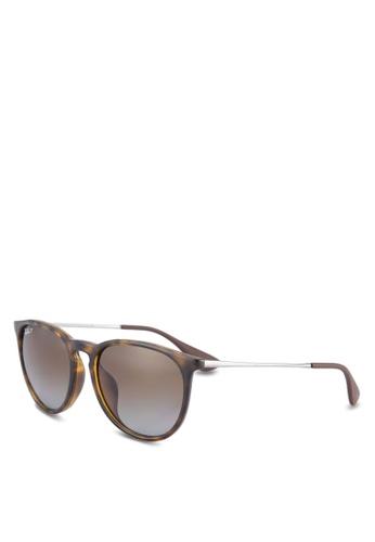 Ray-Ban brown Erika RB4171F Polarized Sunglasses RA896GL48ULZMY_1
