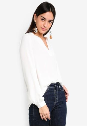 Vero Moda white Sandra Long Sleeve Top 944E0AA5903C22GS_1
