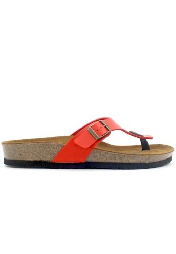 SoleSimple 紅色 Prague - 紅色 百搭/搭帶 軟木涼鞋 0B425SHD356851GS_1