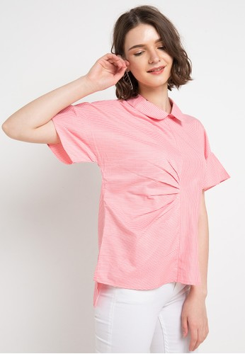 FAME pink and multi Flare Sleeves Blouse A3AB4AAC2534B4GS_1
