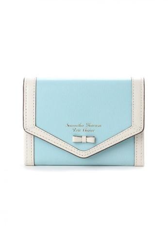 Samantha Thavasa green Samantha Thavasa Petit Choice Aletta Bow Card Case 00C8CACC98E390GS_1