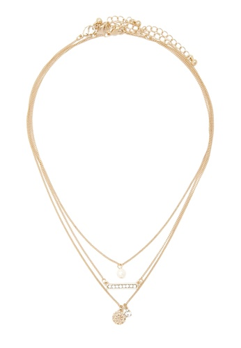 LUCCACAL gold 3 x Denise Layer Necklace LU294AC0SMDRMY_1