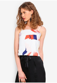 e15e86c52061 MDSCollections multi Contemporary Cami Top In White Brush A9BCAAAF208521GS 1