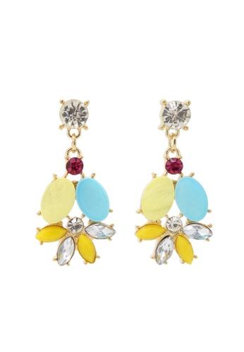 Jaysa Collection yellow Autumn Fiesta Crystals Earrings JA875AC0GYCCSG_1
