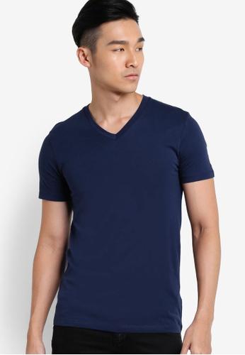 ESPRIT navy Short Sleeve T-Shirt ES374AA35MQQMY_1