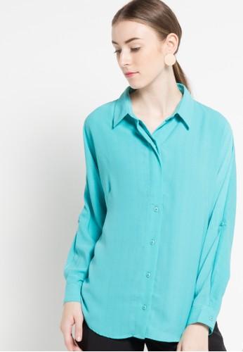 WHITEMODE blue Leilani Blouses & Tunics WH193AA95EMMID_1