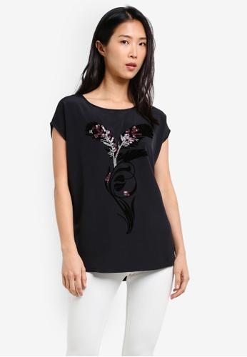 Esprit black Short Sleeve T-Shirt ES374AA0SAZNMY_1