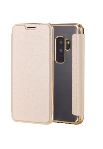 MobileHub gold Ultra Clear Slim Case with Flip Cover for Samsung Galaxy S9 Plus 923FFACAA1AC23GS_1