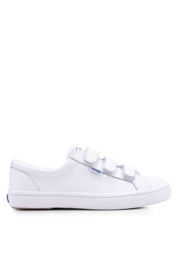 Keds white Tiebreak Leather Sneakers E4292SH8C99033GS_1