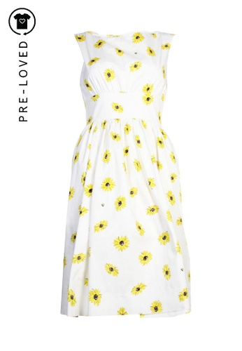 Kate Spade white Pre-Loved kate spade Daisy Print Dress AC701AAD90173BGS_1