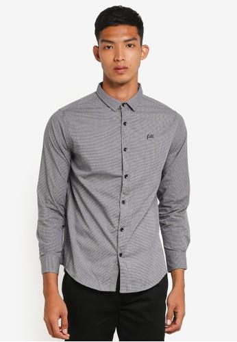 Fidelio grey Micro-Collar Casual Long Sleeves Shirt CA0BEAA6E2D968GS_1