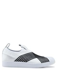 online store 1f035 d0764 adidas white adidas originals superstar slip on w 494CDSH9D35B88GS 1