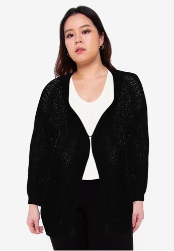 Junarose black Amalias Long Sleeve Knit Cardigan DEC2EAAD7CA75CGS_1