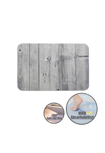 HOUZE HOUZE - Slatted Wood Diatomite Mat (Agate Grey) C4F2FHLE087447GS_1