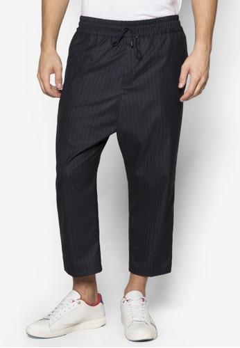 Lux P12尖沙咀 esprit outlet 細條紋寬鬆跨褲, 服飾, 服飾