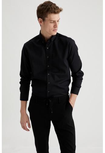DeFacto black Long Sleeve Shirt C1CF6AAC70E617GS_1
