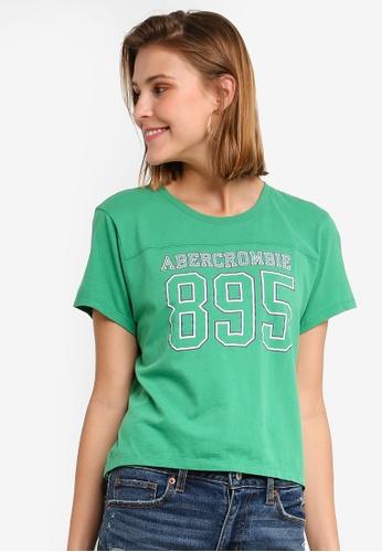 Abercrombie & Fitch 綠色 品牌印花T恤 F32EEAA474F8C8GS_1