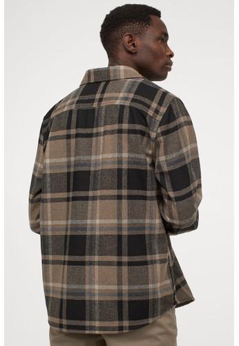 H&M beige Twill shirt jacket B1F87AACECD3D2GS_1